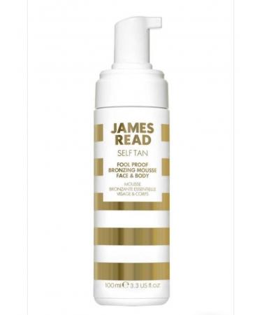 Воздушный мусс автозагар для легкого и ровного загара по всему телу James Read Fool Proof Bronzing Mousse