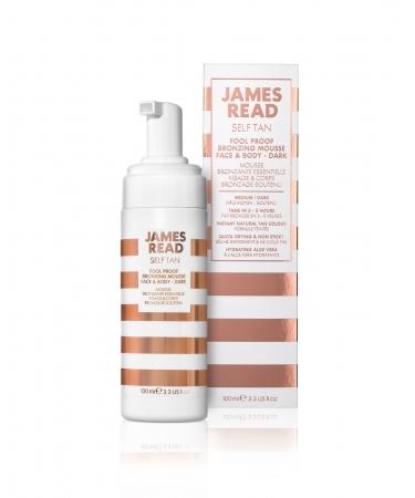 Бронзирующий мусс-автозагар для лица и тела James Read Fool Proof Bronzing Mousse Face & Body - Dark