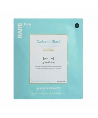 Черная тканевая маска для очищения и детокса кожи RARE Paris Carbone Glacé
