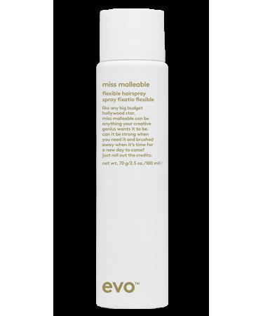 Лак подвижной фиксации Evo Miss Malleable Flexible Hairspray
