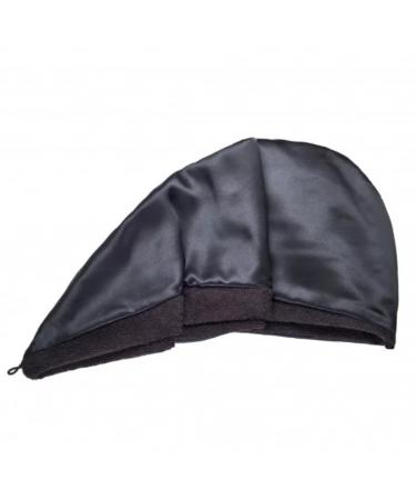 Двустороннее полотенце-тюрбан для волос с натуральным шелком MON MOU Hair Turban Black