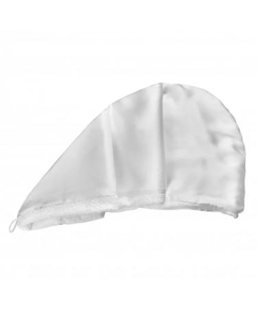 Двустороннее полотенце-тюрбан для волос с натуральным шелком MON MOU Hair Turban White