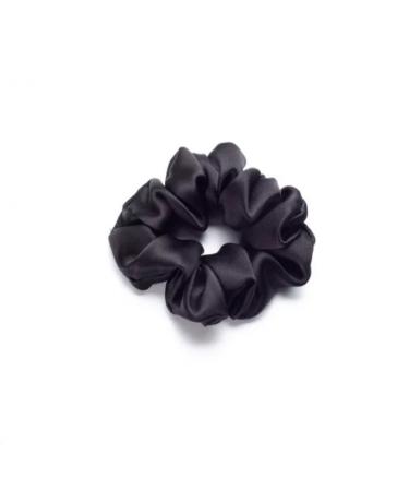"""Объемная шелковая резинка для волос """"Черная"""" Mon Mou"""
