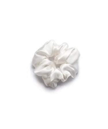 """Объемная шелковая резинка для волос """"Белая"""" Mon Mou"""