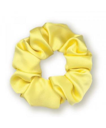 """Объемная шелковая резинка для волос """"Желтая"""" Mon Mou"""