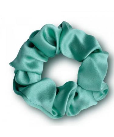 """Объемная шелковая резинка для волос """"Зеленая"""" Mon Mou"""