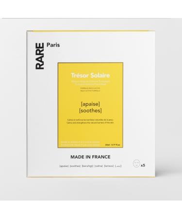 Набор из пяти успокаивающих масок  с Витамином Е и экстрактом арники RARE Paris Trésor Solaire